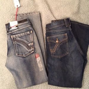 2 pair of Ring of Fire denim jeans boys 12